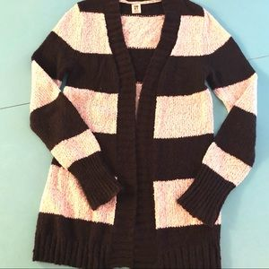 Roxy Navy and White Striped Cardigan
